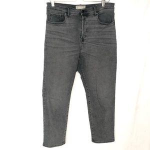Everlane Cigarette Black Jean High Rise Plus 32